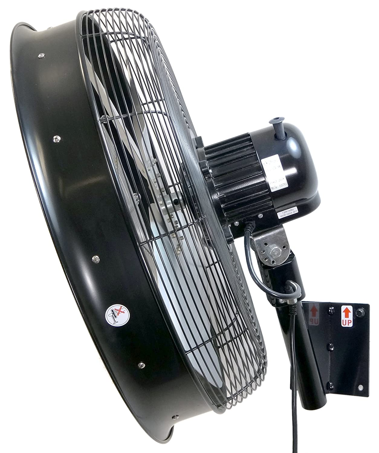 White 3 Speed On Cord HydroMist F10-14-012 18 Shrouded Outdoor Wall Mount Oscillating Fan 1.05 Amps 0.15 HP