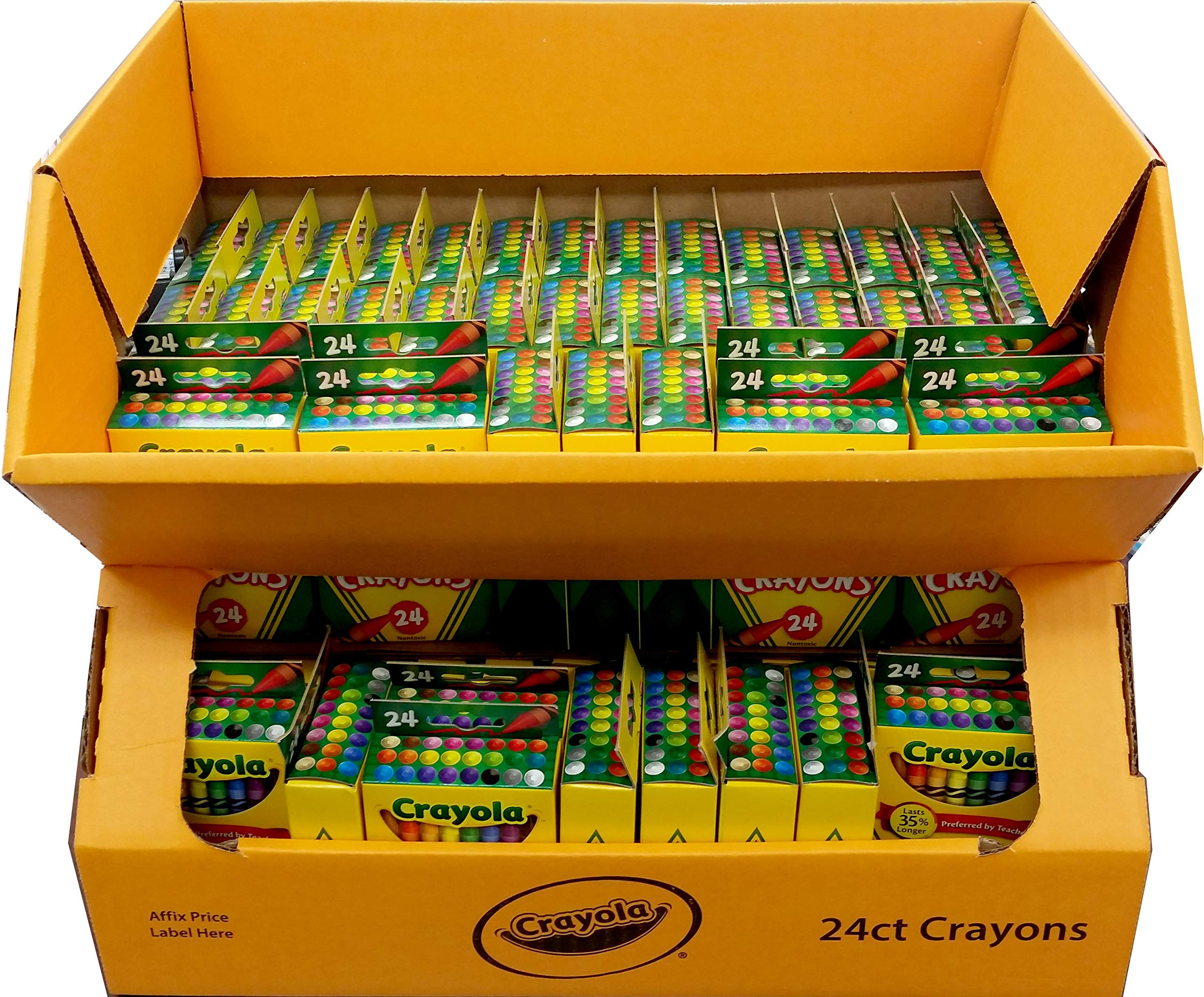 Crayola Crayon 24 Display, Case Pack of 90, Ideal for Bulk Buyers