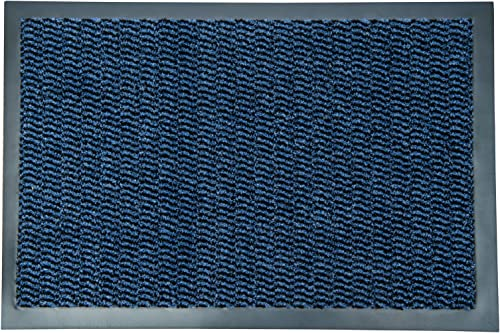 Ultralux Indoor Entrance Mat Blue Polypropylene Fibers and Anti-Slip Vinyl Backed Entry Rug Doormat Home or Office Use Multiple Sizes 47 x 71