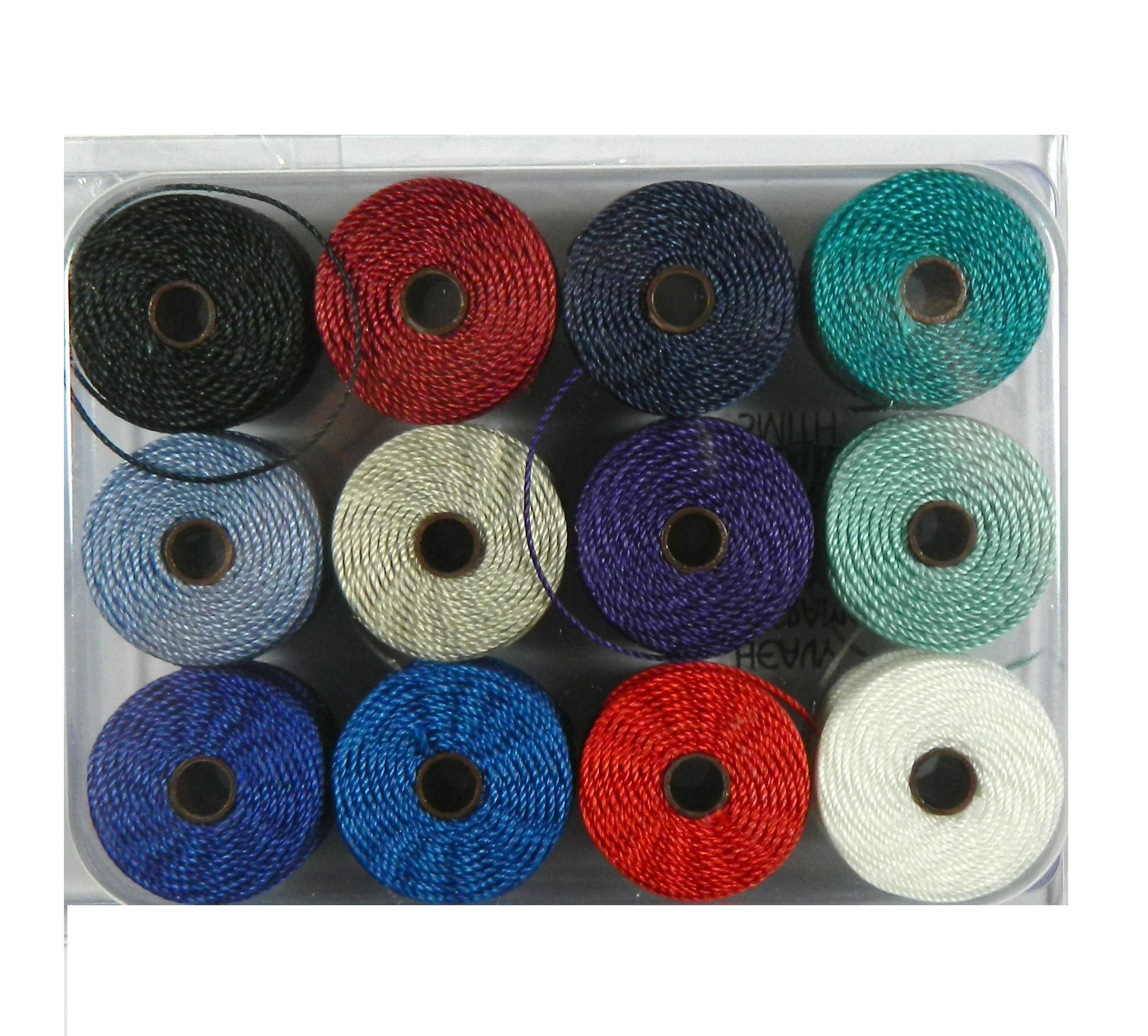 Beadsmith Tex 400 S-Lon Cord Ideal for Crochet Macrame and Kumihimo Jewelry, 0.9mm, Sampler2