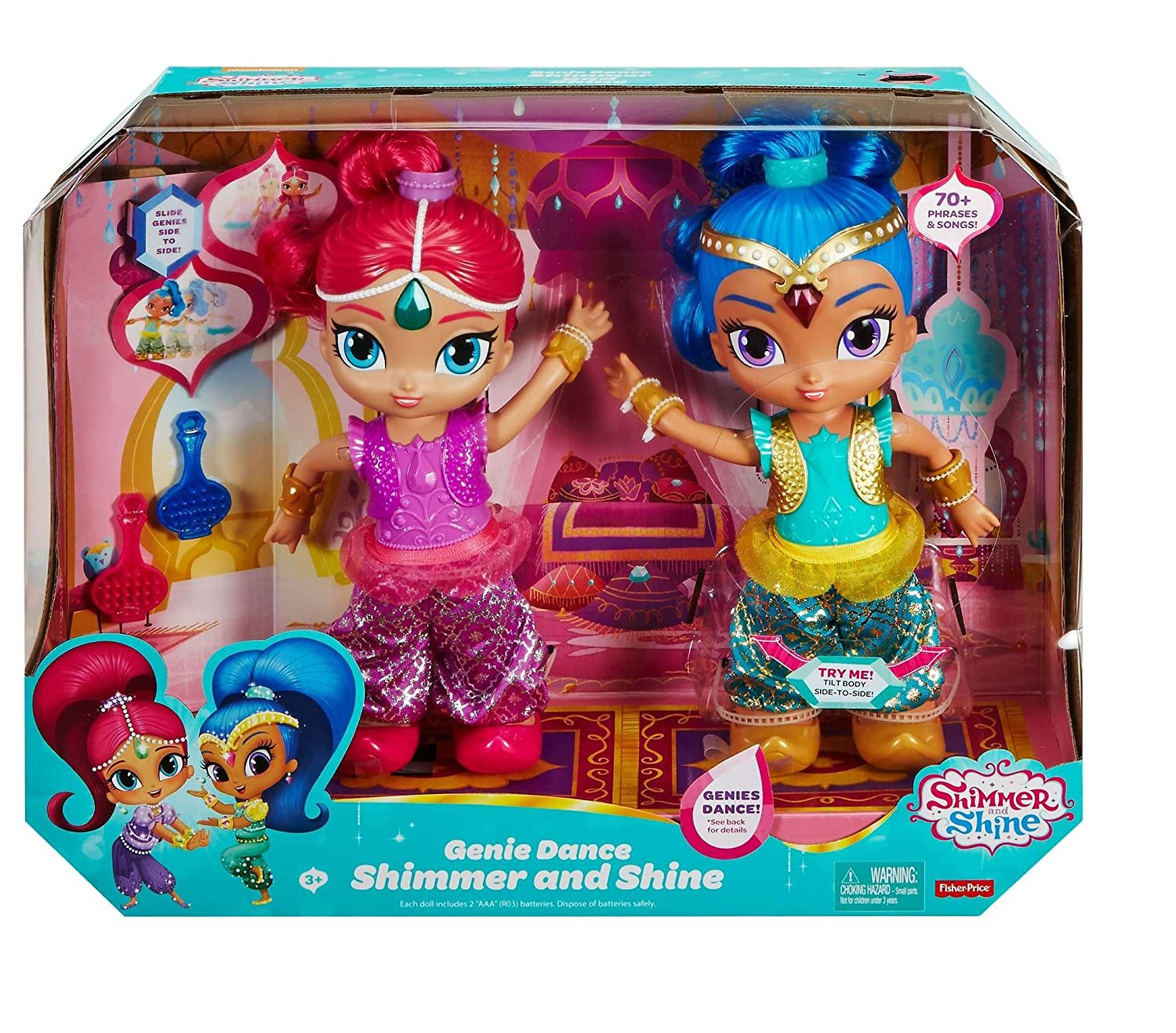 Amazon Shimmer And Shine Genie Dance 2 Pack Dolls Toys Games