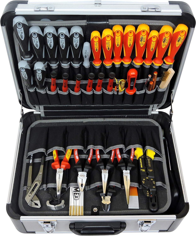 Famex Werkzeuge 700-L Maletín de herramientas vacío, Color aluminio: Amazon.es: Bricolaje y herramientas