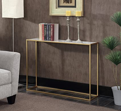 Amazon Com Convenience Concepts Gold Coast Faux Marble Console