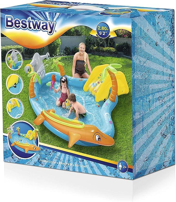 Bestway 53067 - Piscina Hinchable Infantil Vida Marina 280x257x87 ...