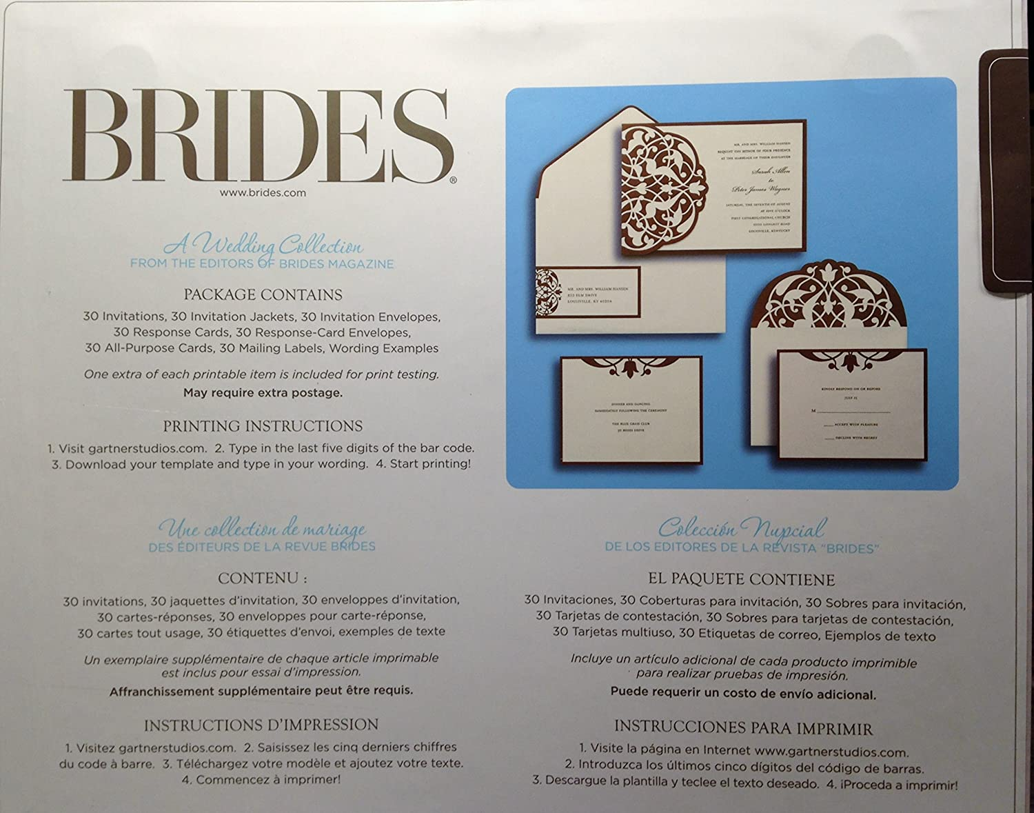 Amazon brides diy wedding invitation kit brownivory home amazon brides diy wedding invitation kit brownivory home kitchen pronofoot35fo Choice Image
