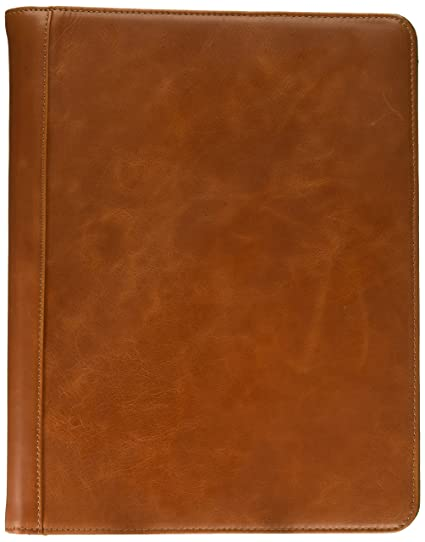 720cd0e3096b Leather Padfolio with 3 Ring Binder, Organizer Binder Folder Portfolio for  A4 Notepad Notebook Documents