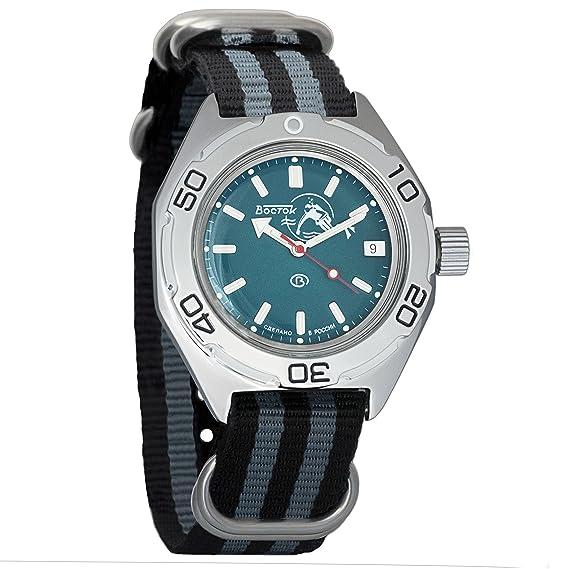 Vostok - Reloj de pulsera automático WR 200 m Scuba Dude Dial para hombre, con anfibia, n.º 670059: Amazon.es: Relojes