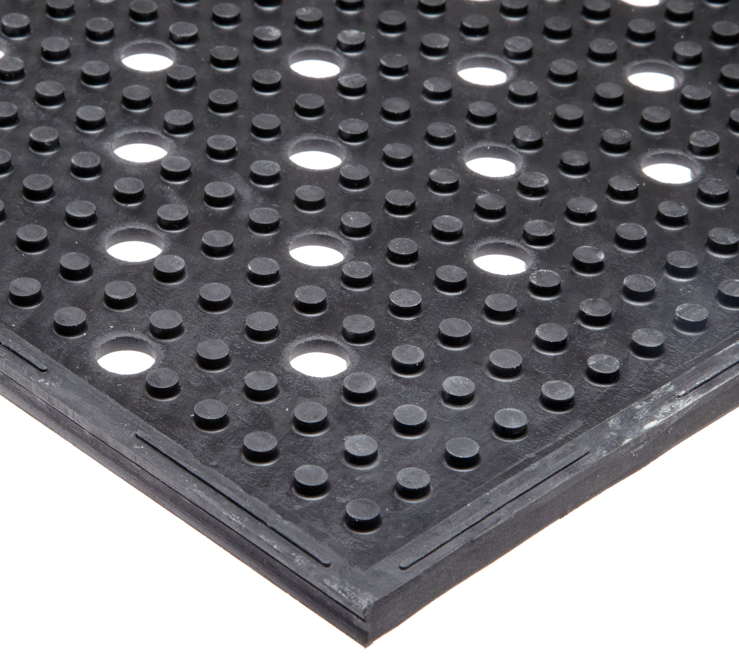 NoTrax T23 General Purpose Rubber Multi-Mat II Safety/Anti-Fatigue Mat, for Wet or Greasy Areas, 3' Width x 2' Length x 3/8'' Thickness, Black
