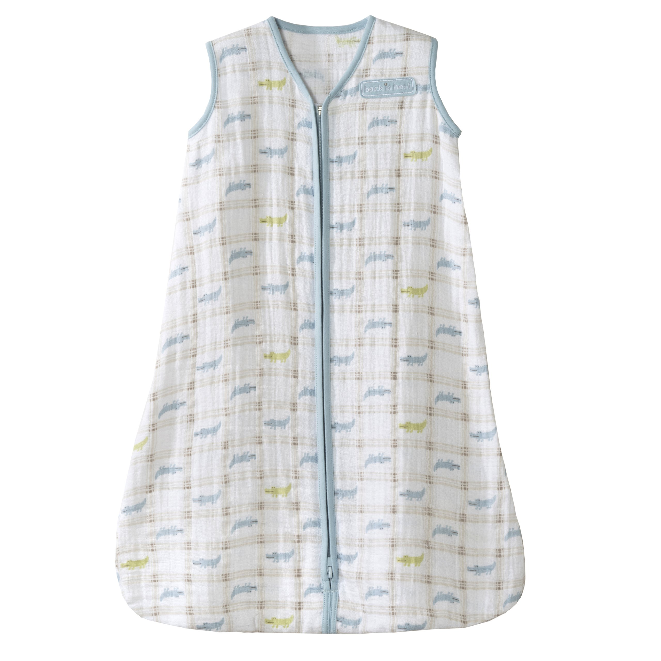 HALO 100% Cotton Muslin Sleepsack Wearable Blanket, Gator Plaid, Medium