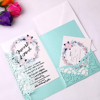 amazon com feiyi 20 pcs 3 folds laser cut rose shape wedding