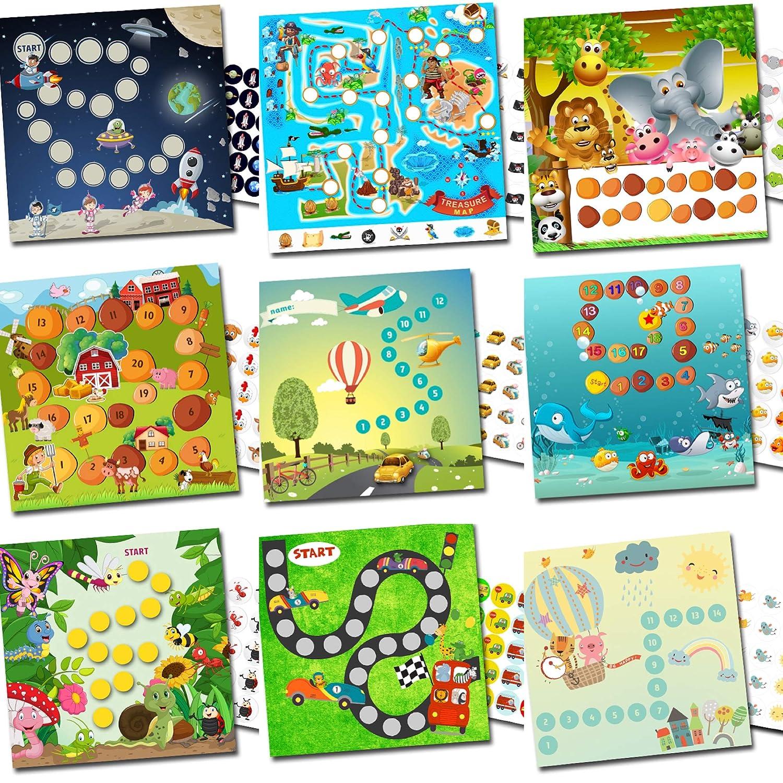 By Diana Belohnungssystem für Kinder Auswahl verschiedener Pakete jeweils 15x15cm aus Papier (Sie kaufen 3 Sets die wir zusammenstellen)