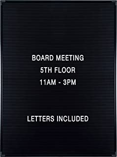 balt essentials black letter board with letters 18x24