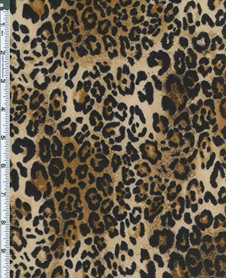 63d86944c69 Hatchi Sweater Jersey Knit Leopard Print Fabric By The Yard, Black /Golden  Brown: Amazon.co.uk: Kitchen & Home