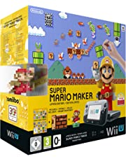 Nintendo Wii U Premium Pack Schwarz Inkl. Super Mario Maker + Artbook + Amiibo [Importación Alemana]