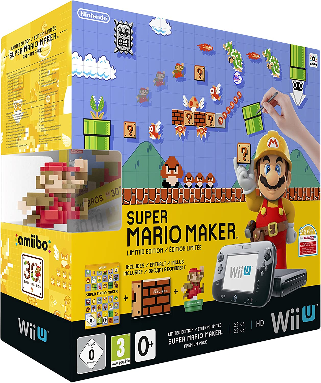Nintendo Wii U + Super Mario Maker + amiibo - videoconsolas (Wii U, Negro, 802.11b, 802.11g, 802.11n, 1080i, 720p, 1080p, 480i, 480p, DDR3, IBM PowerPC): Amazon.es: Videojuegos