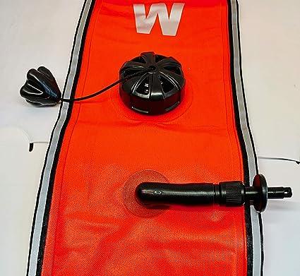 Regulador de buceo rosa, 120 x 15 cm, para inflado oral o LPI CandS Diving Supplies Ltd Scuba