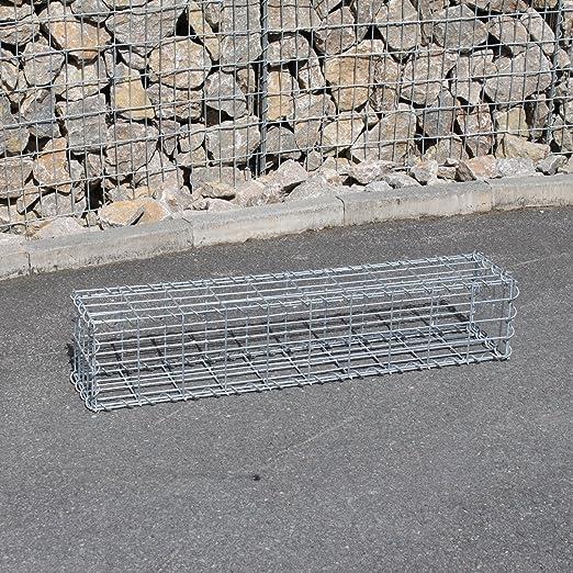 Stone Basket 100 x 80 x 20 cm mesh wire 5 x 5 cm GABION Gabions