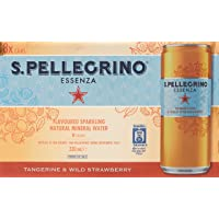 San Pellegrino Essenza Tangerine and Wild Strawberry Sparkling Water, 330 ml (Pack of 8)
