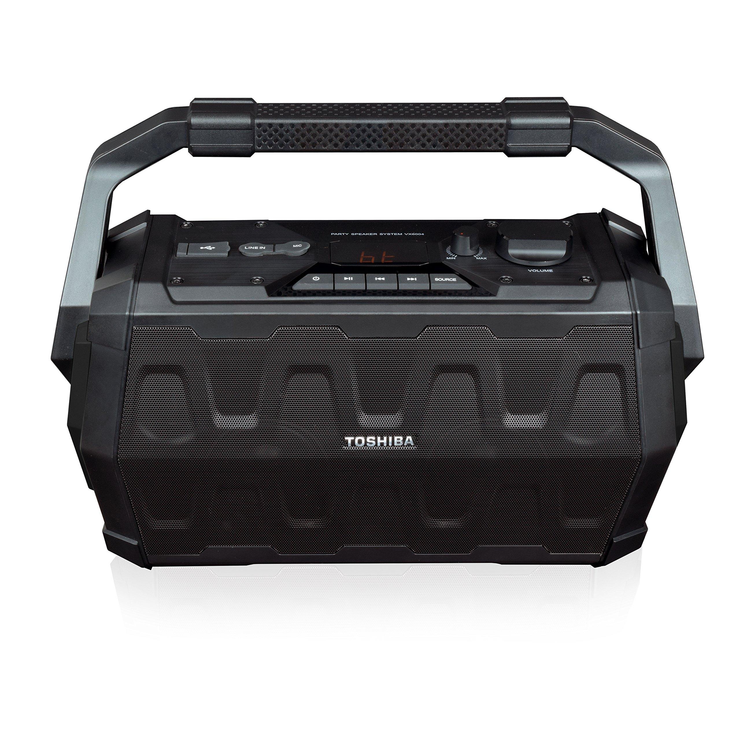 Toshiba TY-ASC20 Trolley Wireless Bluetooth Speaker: Rechargeable Water Resistant Indoor Outdoor Boombox