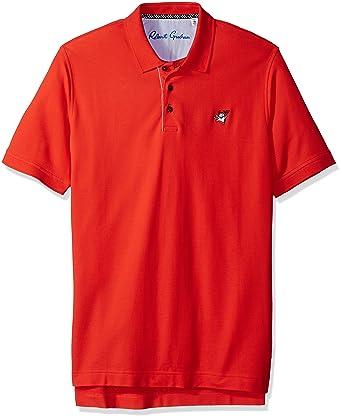 a1bba9a3f8bd8 Amazon.com  Robert Graham Men s Devil Logo Polo Shirt  Clothing