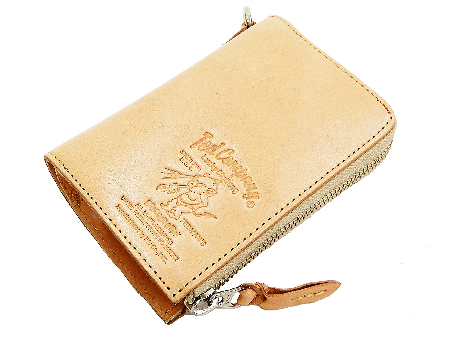 f97436415b2e Tedman Men's Casual Zip Around Leather Short Wallet Made in Japan ...