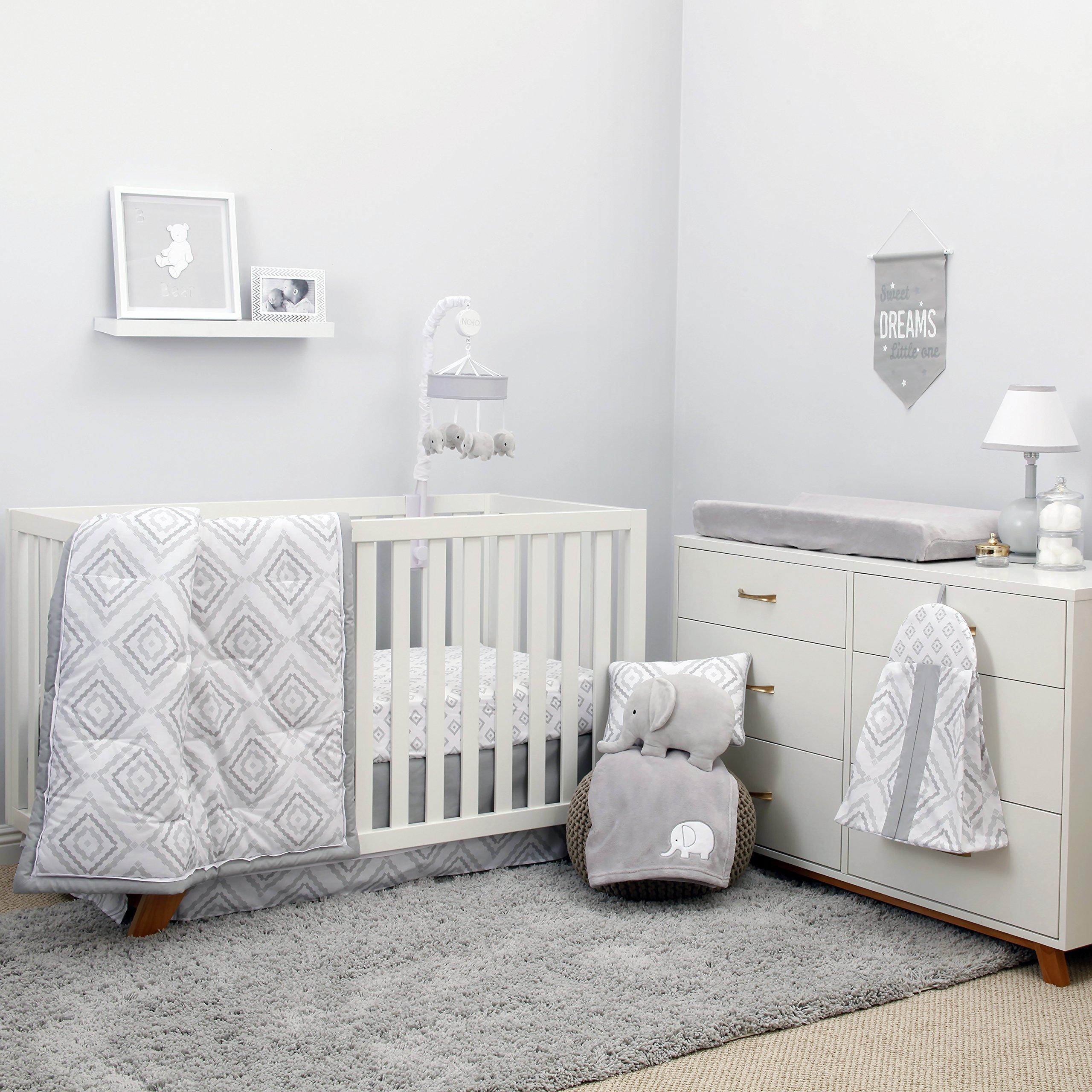 NoJo Dreamer - Grey/White Geo Diamond 8 Piece Comforter Set by NoJo (Image #1)