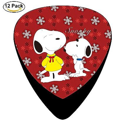 pimalico Classic diseño de Snoopy Púas (12 unidades,) para guitarra eléctrica, guitarra