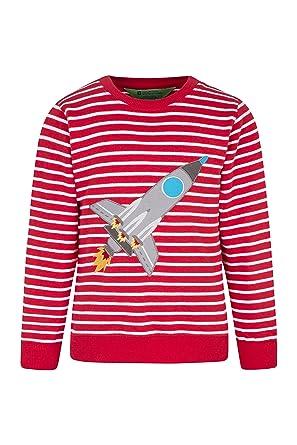6d46ca1102e80b Mountain Warehouse Applique Kids Sweatshirt - 100% Cotton, Lightweight Top,  Breathable Childrens Summer