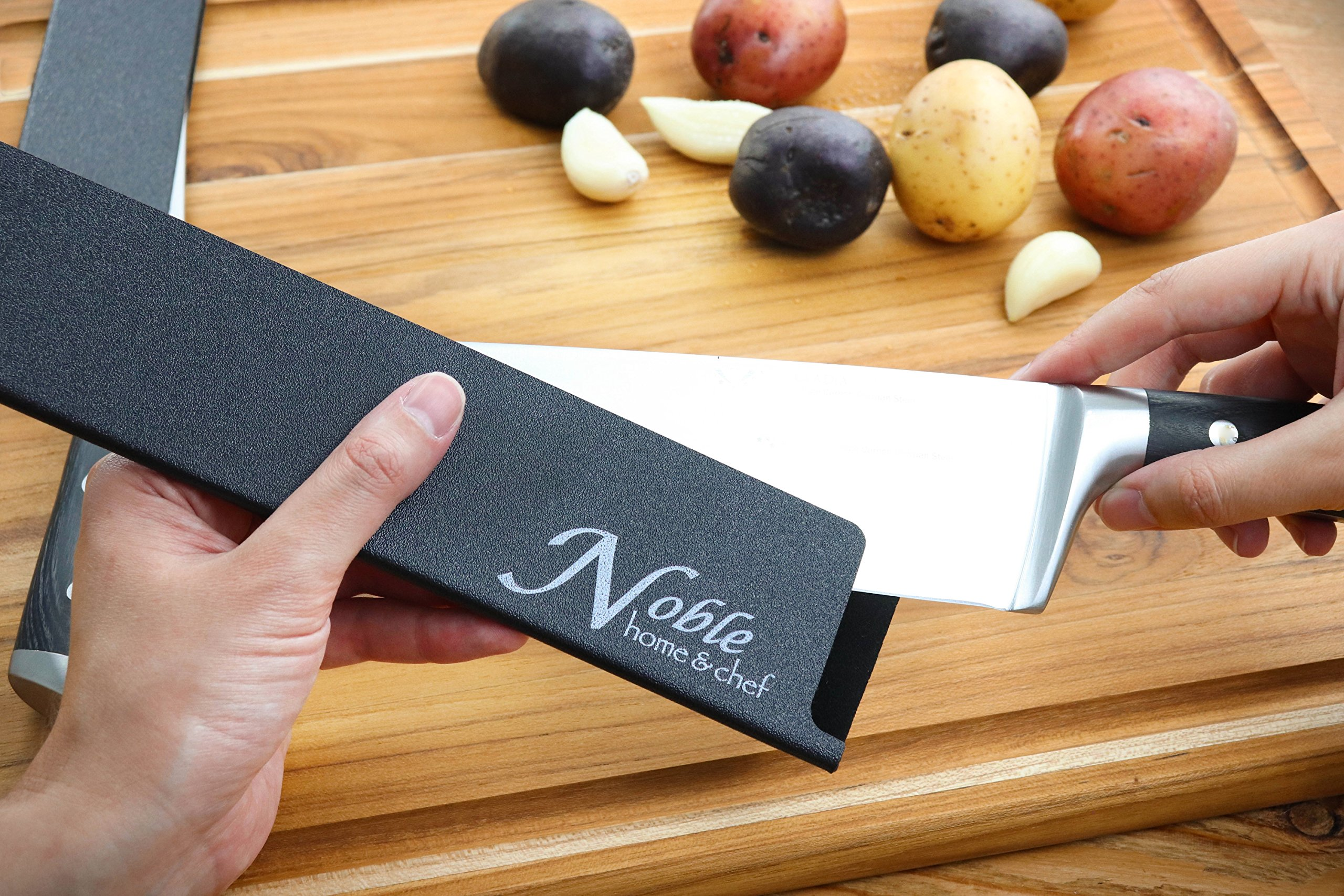 """2-Piece Universal Knife Edge Guards (8.5"""" and 10.5'') are More Durable, BPA-Free, Gentle on Your Blades, and Long-Lasting. Noble Home & Chef Knife Covers Are Non-Toxic and Abrasion Resistant! (Knives N by Noble Home & Chef (Image #5)"""