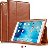 """KAVAJ leather case """"Berlin"""" for the Apple iPad mini 4 cognac brown - genuine leather with stand-up feature. Thin Smart Cover as premium accessory for the original Apple iPad mini 4"""