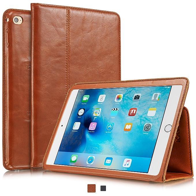 amazon com kavaj ipad mini 4 leather case cover \