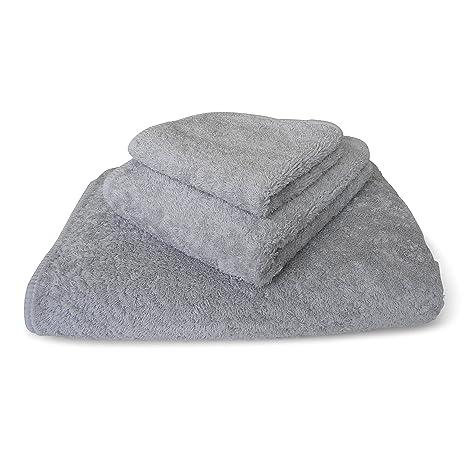 graccioza largo doble loop toalla colección – Plata – fabricado en Portugal, 700-gsm