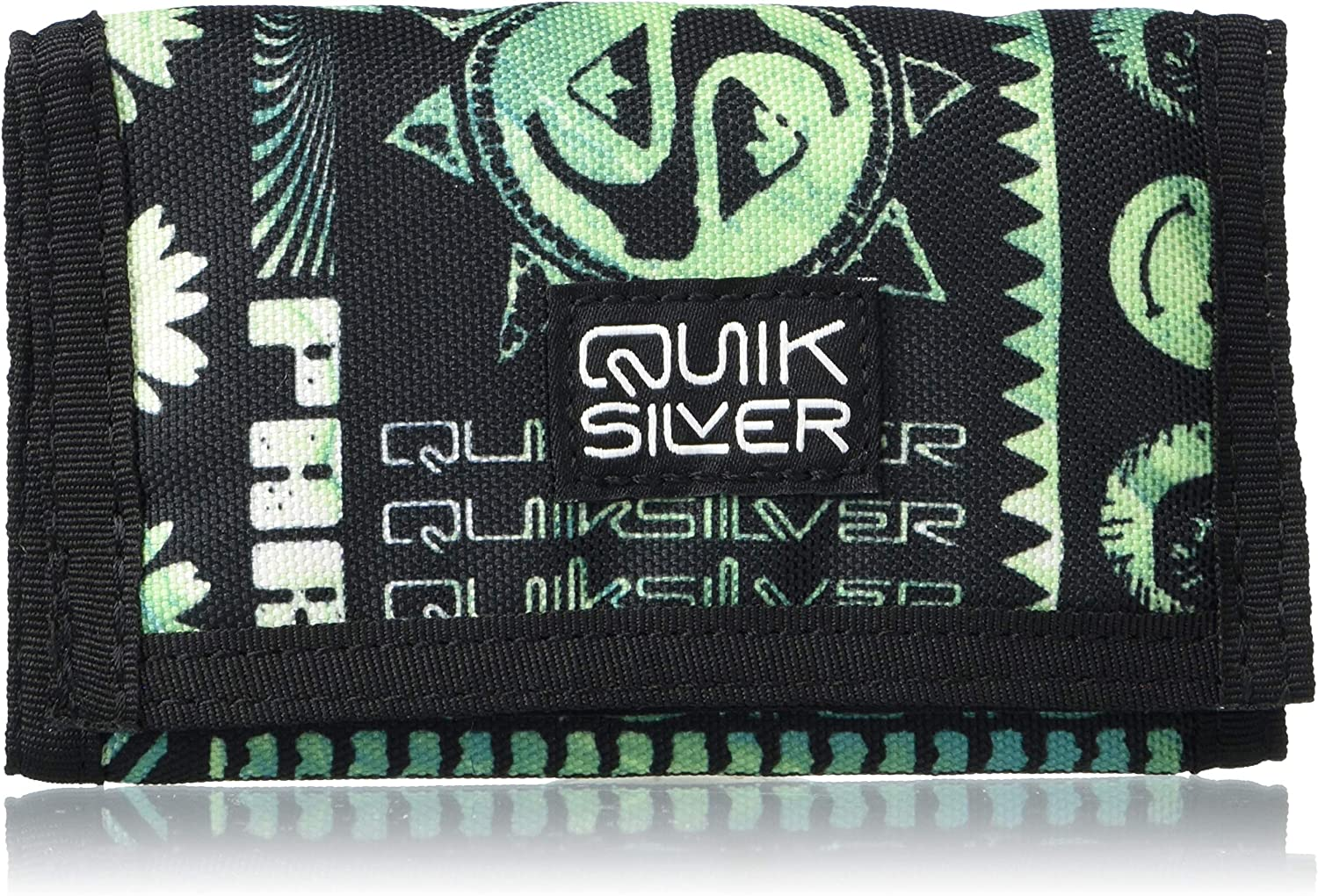Quiksilver Men's The EVERYDAILY 4 Wallet, GREEN ASH, M: Clothing