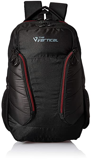The Vertical Journey Polyester 25 Ltrs Black School Backpack  8903496091175