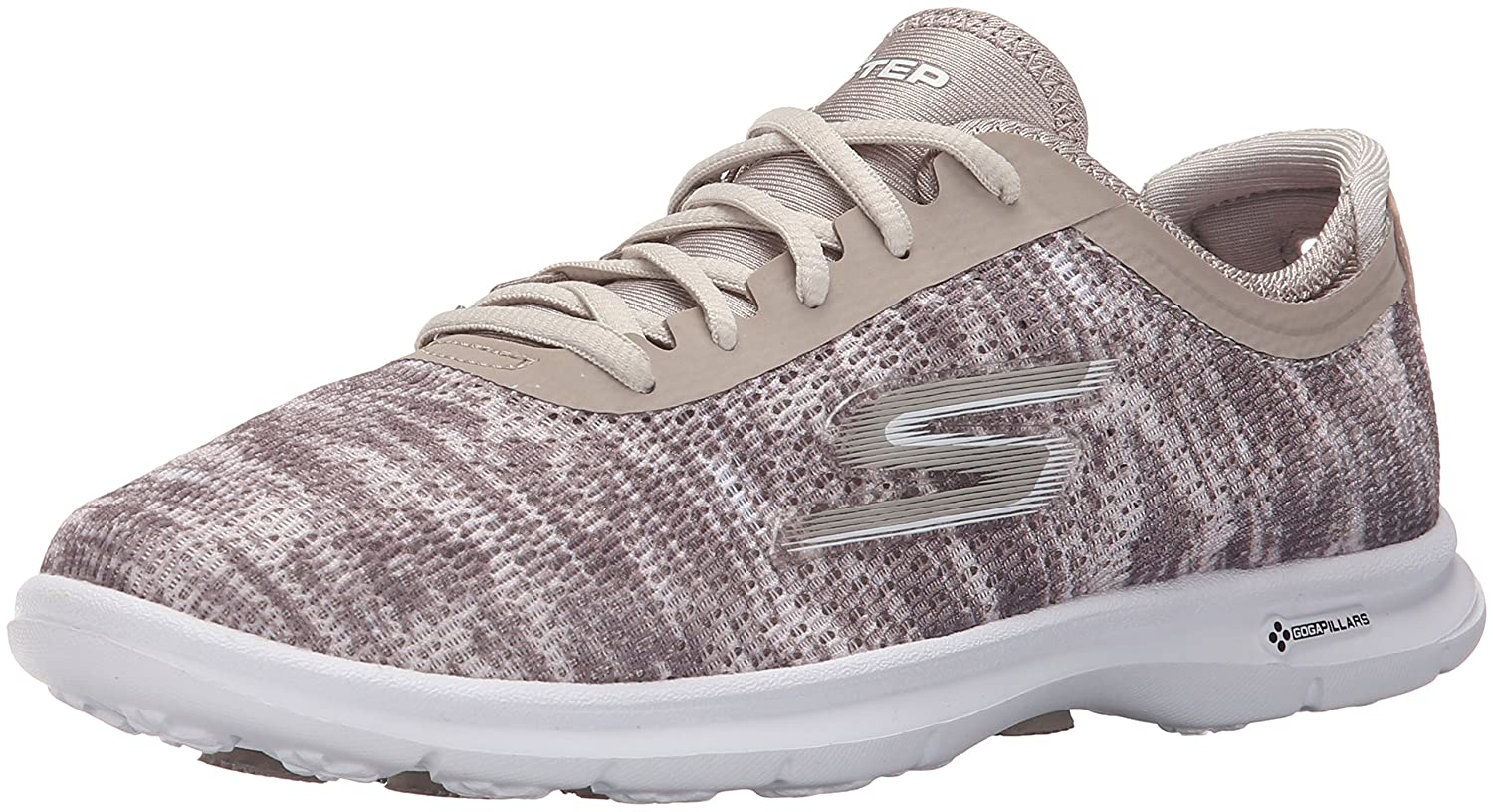 Taupe Skechers Performance Women's Go Step Lace-Up Walking shoes
