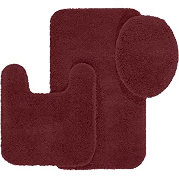 maples rugs bathroom rugs set cloud bath 3pc washable non slip bath mats and rug - Bathroom Rug Sets