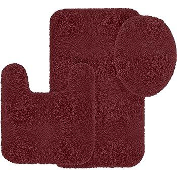 maples rugs bathroom rugs set cloud bath 3pc washable non slip bath mats and rug - Bathroom Rug Sets