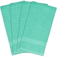 """DII 100% Cotton, Ultra Absorbent, Heavy Duty, Drying & Cleaning, Everyday Kitchen Basic, Waffle Terry Dishtowel, 15 x 26"""", Set of 4"""