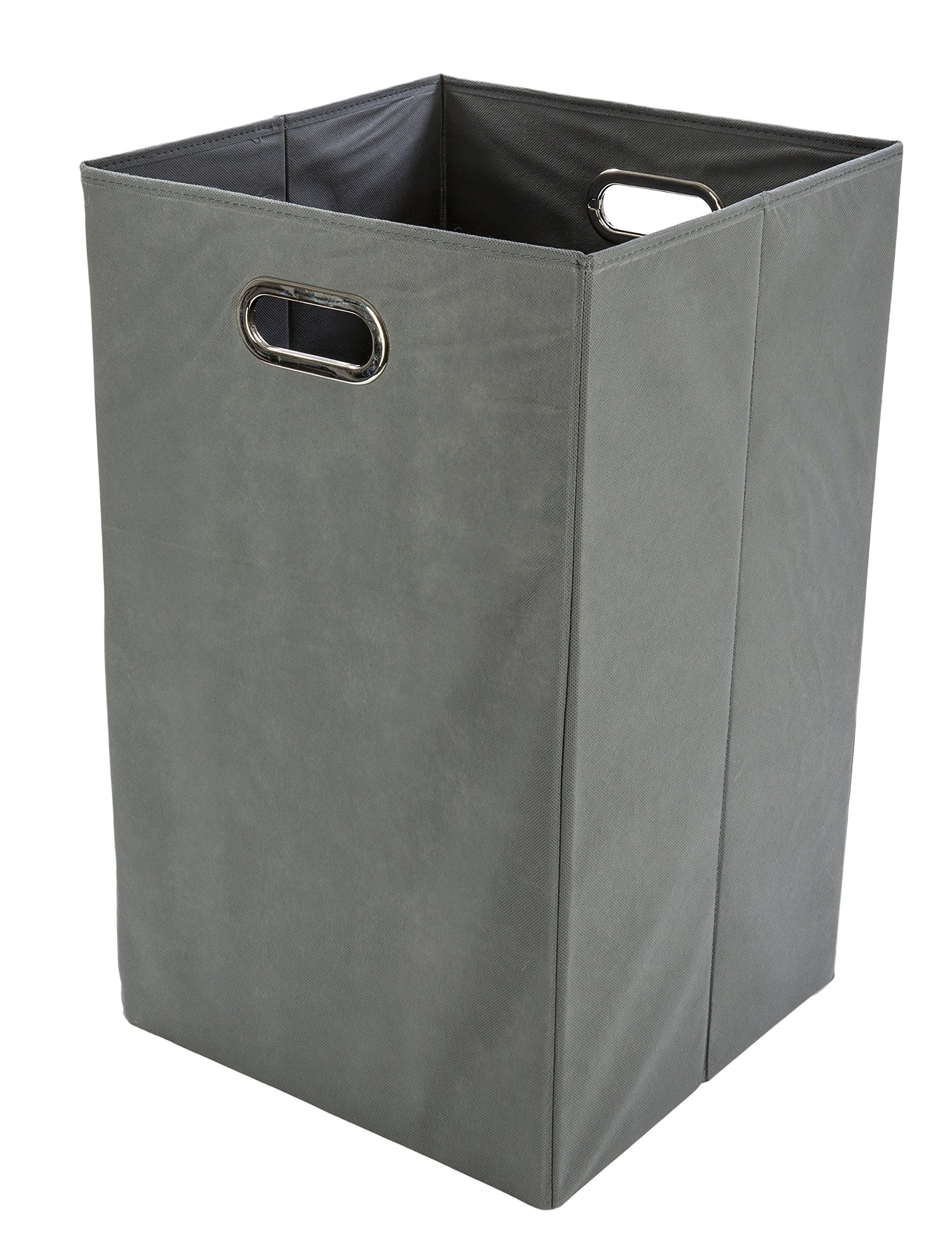 Modern Littles Folding Laundry Basket, Grey - Collapsible Laundry Bin for Toys - Bedroom Organizer - Foldable Bin with Large Capacity. Adult and Kids Room Décor
