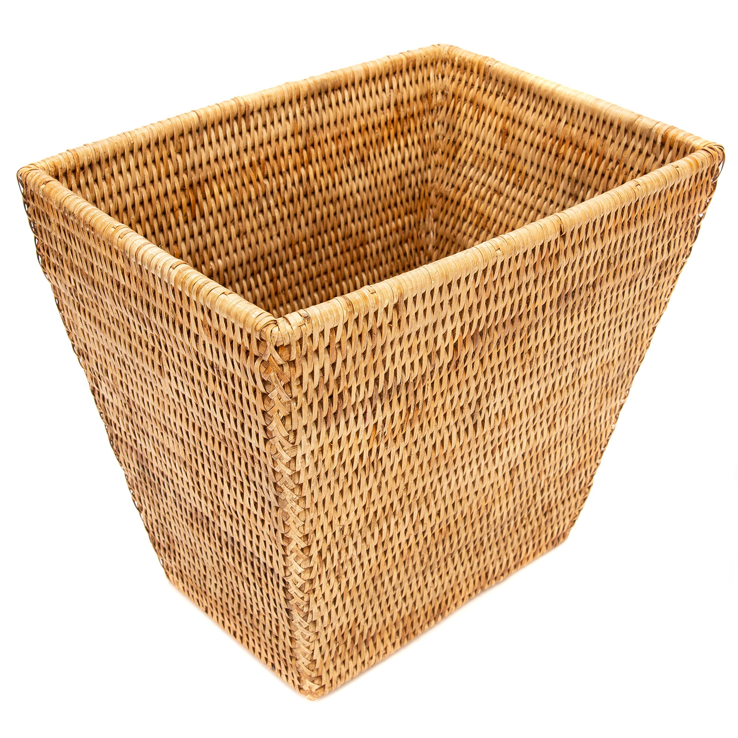 Artifacts Trading Company Artifacts Rattan Waste Basket, Honey Brown by Artifacts Trading Company