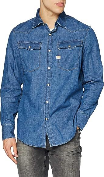 G-STAR RAW 3301 Shirt L/S Camisa para Hombre
