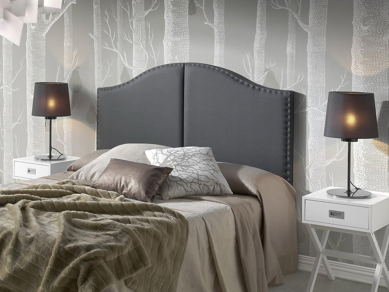 Tête de lit Lyon avec des punaises 160X95 Noir