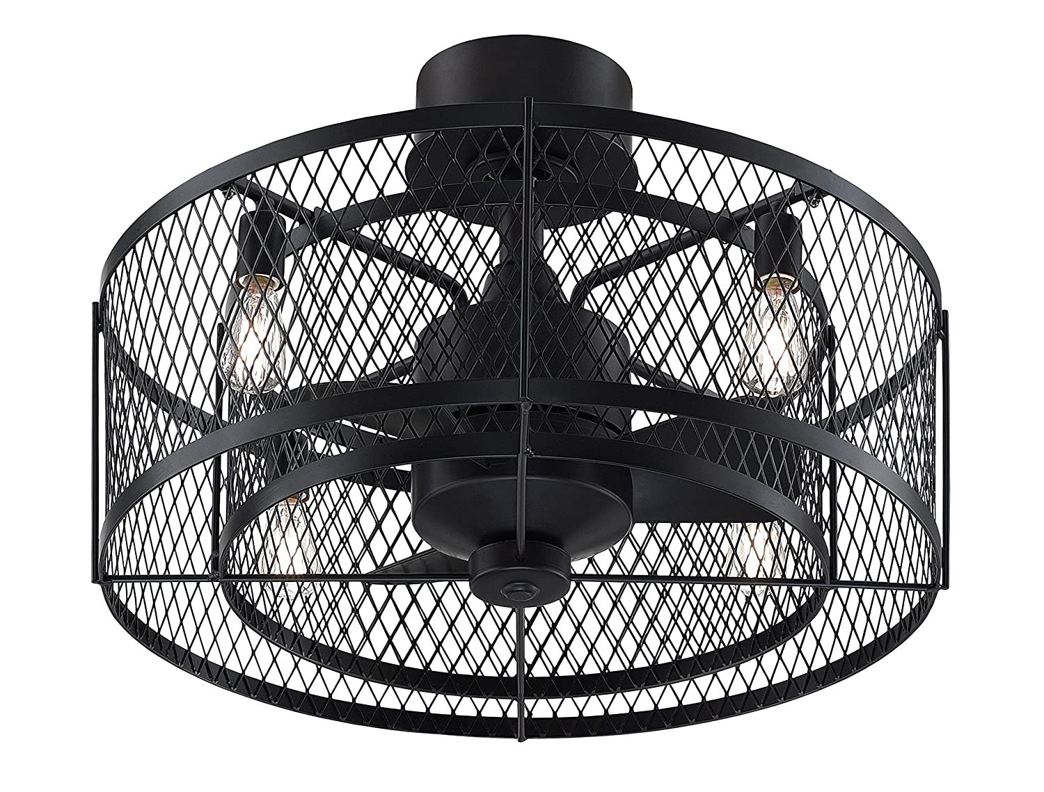 Fanimation Studio Collection LP8350LAZ Vintere Ceiling Fan - Aged Bronze with Vintage Light Kit