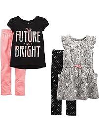 Simple Joys by Carter's Toddler Girls 4-Piece Playwear Set
