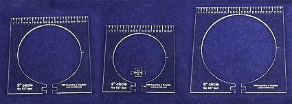 3 Piece Set Circles 1//4 1 3 2