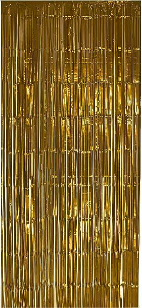 Selbstklebender Lametta Vorhang In Gold Größe 91 X 244 Cm Perfekt Als Party Deko Fenstervorhang Foto Hintergrund Glitzer Vorhänge Metallfolie Goldfolie Streifenvorhang Fensterdekoration Tür Farbe Gold Spielzeug