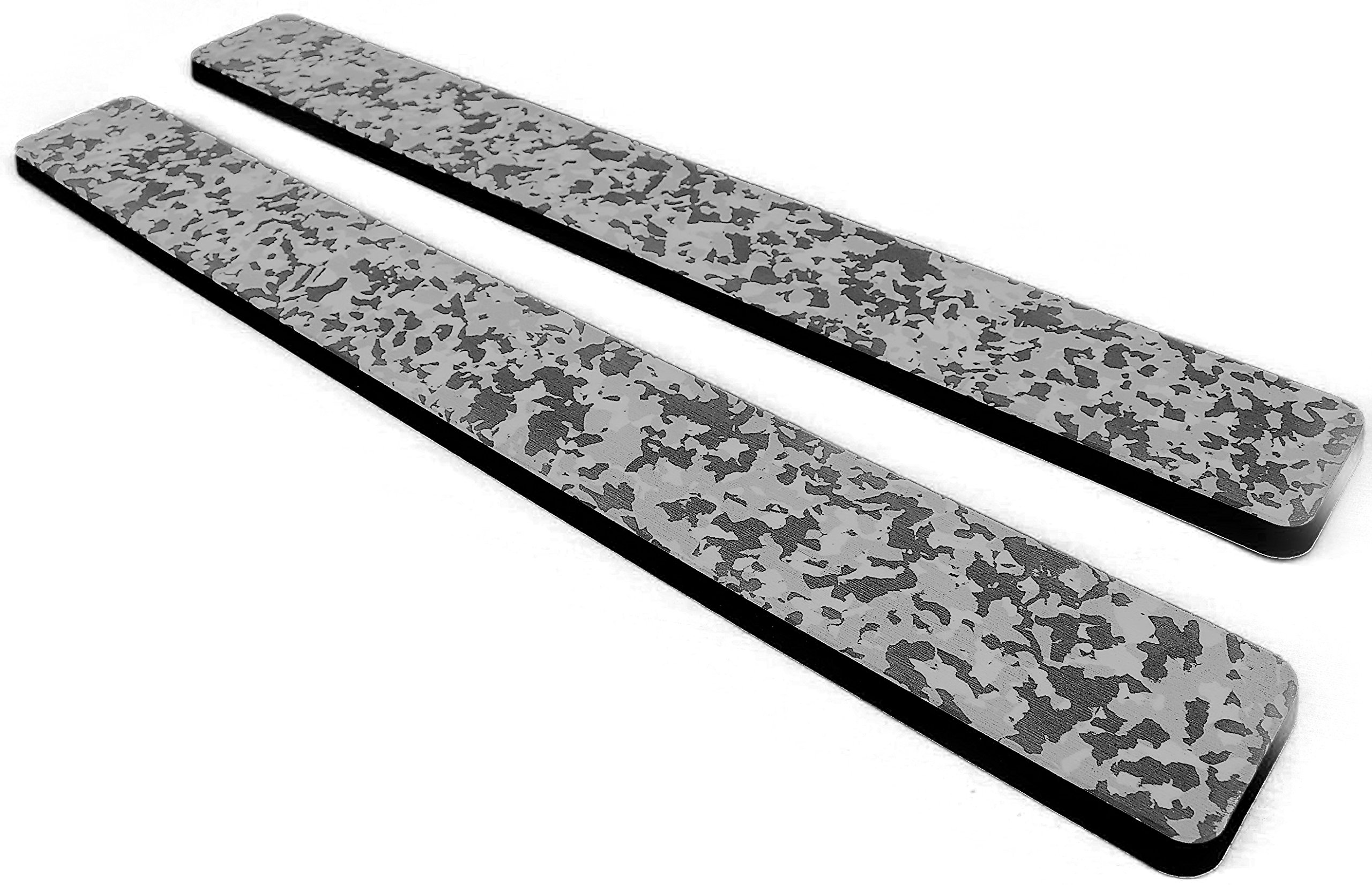 Marine Mat Coaming Bolster Set (21mm Thick) by (Snow Camo Over Black) by Marine Mat