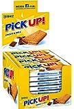 Leibniz PiCK UP! Choco & milk 24 x 28 g-knackige Schokolade, knuspriger Keks-für unterwegs-lecker für zwischendurch-cremige Milchfüllung-einzeln verpackt-Großpackung-Schokokeks mit Milchcreme-Riegel