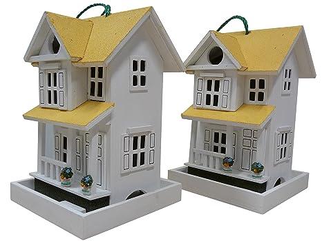 point-jardín 2x caseta de pájaro / Comida Para Pájaros - Villa blanca - PVP
