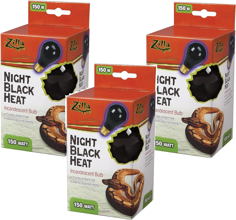 Night Red Heat 150 Watt Zilla Incandescent Bulb 3 Pack